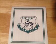 Vintage Butternut Farm Golf Club, Stow MA, Scorecard