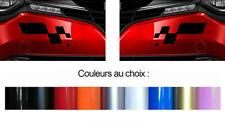 2 X LOGOS POUR RENAULT MEGANE CLIO RS SPORT DAMIERS 29cmX13cm STICKER RA068