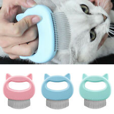 Pet Cat Dog Massage Shell Comb Grooming Hair Removal Shedding Cleaning Brush