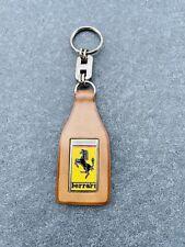 Ferrari Porte Clé Cuir Schedoni Leather Keyring Keychain Keyfob NOS Original