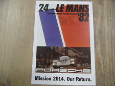 PORSCHE Postkarte Mission 2014 Our Return Nr. 6 SR318