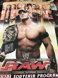 WWE 2006 Raw/ Smack Down Program John Cena Rey Mysterio GREAT COPY