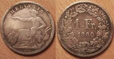 Suisse, 1 Franc Argent 1860 B, TB+ &  Rare !!