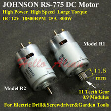 JOHNSON RS-775 Electric DC Motor 12V 18500RPM High Speed Power Large Torque 300W