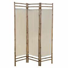 Vidaxl Cloison de Séparation pliable 3 Panneaux Bambou et toile Paravent