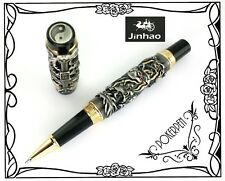 free ship JINHAO Dragon & Phoenix rollerball pen Ancient + 2 refills BLUE ink