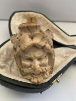 VINTAGE Genuine Sunalp Block Meerschaum Smoking Pipe Great Figural Face See Pics