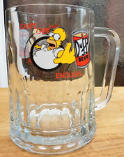 Vintage 1997 Simpsons Beer Tankard Glass 'Can't Get Enough Duff' 570ml/1 Pint
