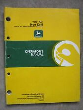 John Deere 737 air Hoe Drill operators Manual JDG8