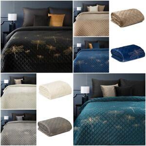 Tagesdecke Bettüberwurf Überwurf Überdecke Samtdecke Elegante Modern Decke WEICH