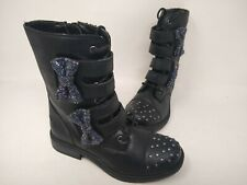 NEW! Skechers Youth Girl's Twinkle Toes Rock City Girlz Boots Blk #8796L 201L cc