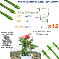 [12x] Tree Vine Flowers Orchid Trellis Tomato Plants Cage 45CM Height Anti-Rust