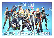 FORTNITE COMPUTER GAME  A4 PERSONALISED  CAKE TOPPER EDIBLE ICING SHEET
