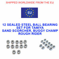 TAMIYA SAND SCORCHER, ROUGH RIDER BUGGY CHAMP STEEL SEALED BALL BEARING