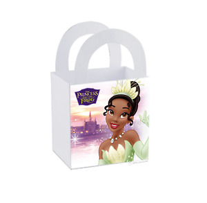 """8 The Princess and the Frog Tiana Label 3"""" x 3"""" Small Treat Bag Box Party Favor"""