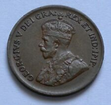 Canada 1 Cent 1931 RARE KM#28 HMK George V. Bronze Coin ** AU