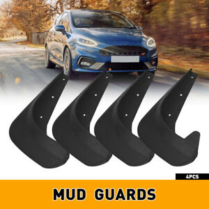4X Universal Car Mud Flaps Splash Guards for Front Rear Auto Accessories BLACK M