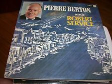PIERRE BERTON READS ROBERT SERVICE-LP-VG+-ARC RED-CANADIAN ICON-FRONT PAGE CHAL.