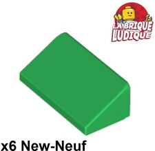 Lego 6x Slope Brick Brick Gradient Angled Roof Roof 1x2 Green/Green 85984 New