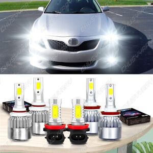 For Toyota Camry 2007- 2014 6000K LED Headlight High/Low + Fog Light Bulbs Kit