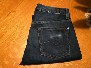 7 FOR ALL MANKIND STANDARD STRAIGHT FIT JEANS 30 X 33 NICE!