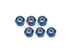 3RACING 2mm Alu Lock Nuts 6 Pcs Blue RC Mini-Z MR02 MR03 MM RM Chassis Car 20BU