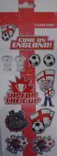 England Football Sticker Sheet 12 Metallic Designs. Great for Card Making