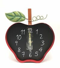 Apple Wall Clock Battery Home Kitchen Metal Interiors by Design New