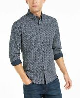 Michael Kors Mens Shirt Blue Size XL Slim Button Down Longsleeve $98 #214