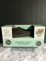 Order Home Collection Women's Memory Foam Slippers Size S 5-6 Brown