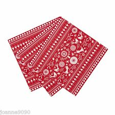 PARTY DINNER NAPKIN RUSSIAN CHRISTMAS FOLK RED WHITE HOME DECORATION