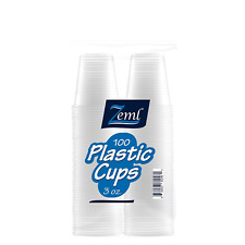 Plastic Cups Disposable Clear Drink Water Juice Party Shot Glasses 100 CT 3 Oz
