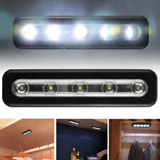 5LED Wireless Touch Tap Push Nightlight Closet Kitchen Cabinet Closet Light Lamp