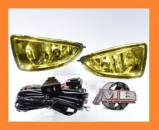 2004-2005 Honda Civic 2/4 DR JDM Yellow Fog Lights Front Bumper Lamp FULL KIT