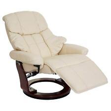 Leder XXL Relaxsessel TV Sessel drehbar 150kg belastb. Fernsehsessel creme 56056
