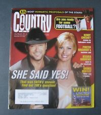 "Tim McGraw & Faith Hill--2003 Country Weekly Magazine--""She Said Yes!"""