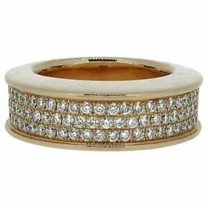 Pave Set Diamond Domed Ring 18 Carat Rose Gold 1.45 Carat