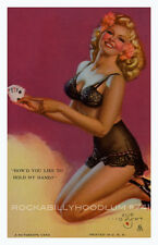 Pin Up Girl Poster 11x17 Mutoscope Card lingerie Blonde Playing Cards