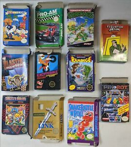 Lot of 11 Nintendo NES Video Game Empty Boxes Only