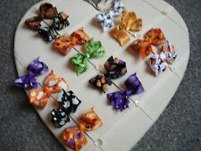 Halloween Hair Bows with Clips Brand New 14 Varieties only £0.99 each