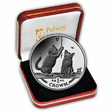 Isle of Man 2001 Somali Kittens Cat Proof Silver Coin
