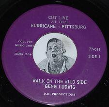 Private Press Jazz 45~GENE LUDWIG~Walk On The Wild Side~Hurricane Pittsburgh