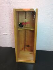 PENFOLDS GRANDFATHER PORT WINE OAK WOOD BOX BOTTLE CARRIER / DISPLAY WITH CORK