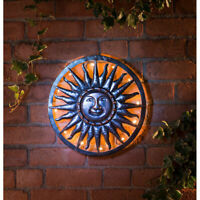 40cm Bronze Sun Metal Wall Art Bronze Finish Garden Outdoor Decoration