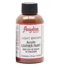 Angelus Acrylic Leather Paint for Shoes / Sneakers - Light Brown - 4oz