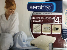 """Aerobed Luxury Collection Pillow Top 14"""" Queen Air Mattress Inflatable Bed"""