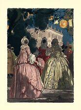 Auguste LEROUX .les belles en masque pendant le carnaval de Venise ! SPLENDIDE !