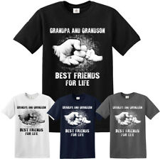 GRANDPA AND GRANDSON BEST FRIENDS FOR LIFE T SHIRT Funny Xmas Gift Tshirt Top