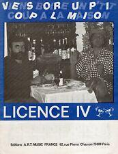 PERNOD LICENCE IV PARTITION*****VIENS BOIRE UN TI'COUP VACHER GUILLOT FALON 1986
