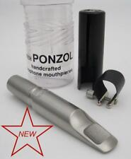 Ponzol Stainless Steel 110 Plus Baritone Saxophone Mouthpiece NEW